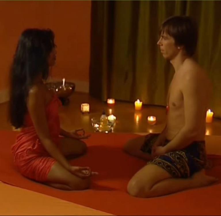 Capture d'écran de la vidéo du massage